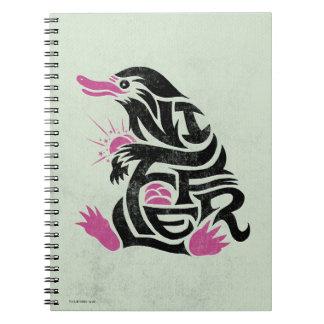Niffler Typografie-Grafik Spiral Notizblock