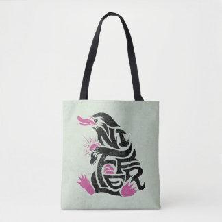 Niffler Typografie-Grafik Tasche