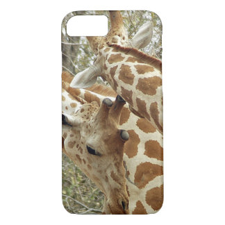 Niger, Koure, zwei Giraffen in den Büschen im iPhone 8/7 Hülle