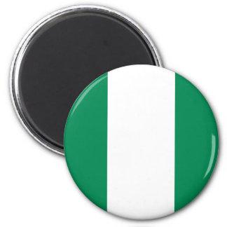 Nigeria-Flaggen-Magnet Runder Magnet 5,7 Cm