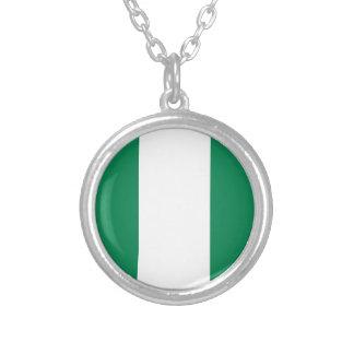 Nigerische Flagge Versilberte Kette