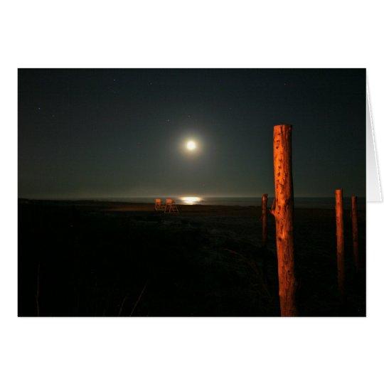 Nightguards--Strand nachts Mitteilungskarte