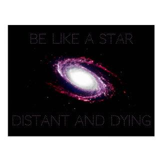 Nihilismus: Seien Sie wie ein Stern Postkarte
