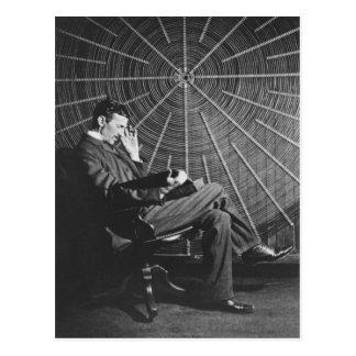 Nikola Tesla, 1896 Postkarte