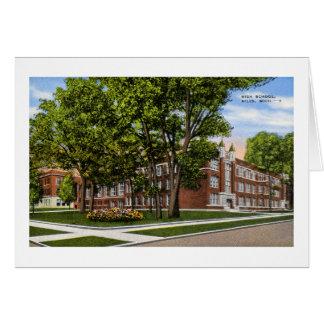 Niles Highschool, Niles, Michigan Vintag Karte