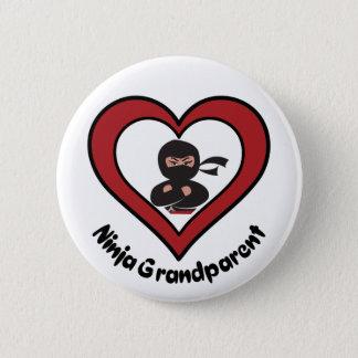Ninja Großvater-Button-Knopf Runder Button 5,1 Cm