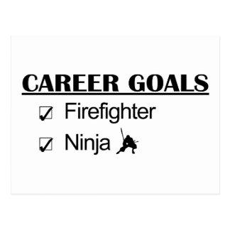 Ninja Karriere-Ziele - Feuerwehrmann Postkarte