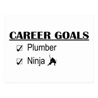 Ninja Karriere-Ziele - Klempner Postkarten