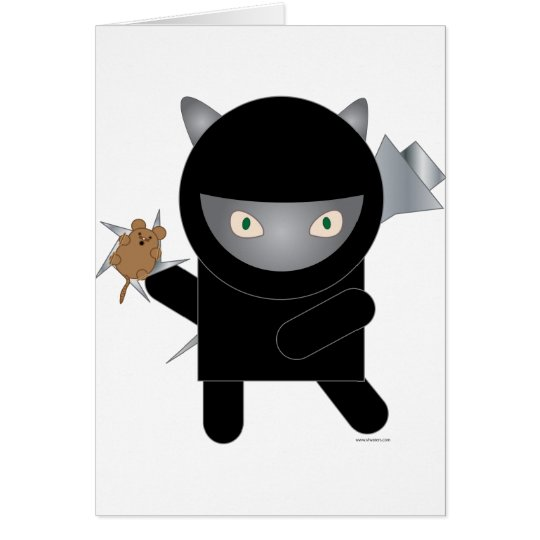 ninja Miezekatze-Grußkarte Grußkarte