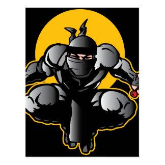 Ninja mit Dolchen Postkarte