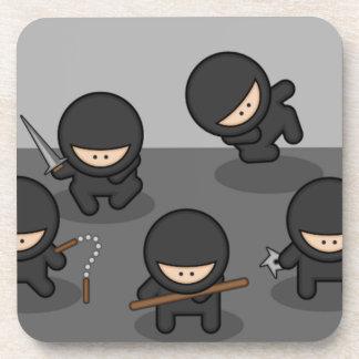 Ninja Untersetzer - Retro Party-Spaß