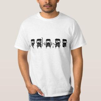 Ninjas Pixel-Kunst T-Shirt