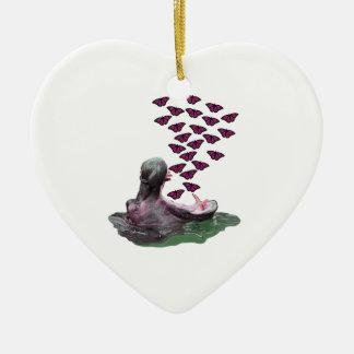 Nippen auf Sonnenschein Keramik Herz-Ornament