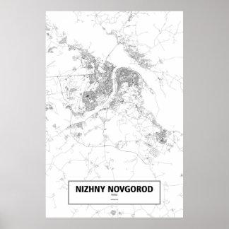 Nischni Nowgorod, Russland (Schwarzes auf Weiß) Poster