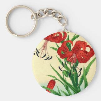 Nishimura Hodo Blumen Tiger-Lilien-Shins Hanga Schlüsselanhänger