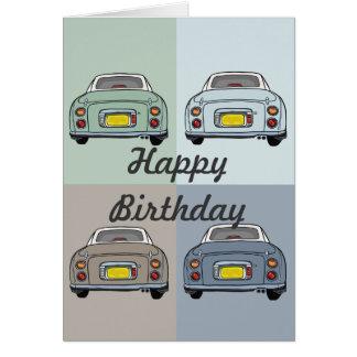 Nissan Figaro-Auto-Geburtstags-Gruß-Karte Karte