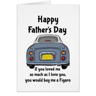 Nissan Figaro - carte heureuse de fête des pères
