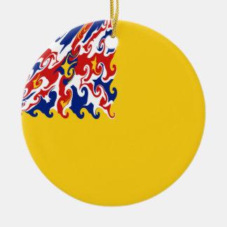 Niue Gnarly Flagge Rundes Keramik Ornament