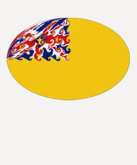 Niue Gnarly Flaggen-T - Shirt