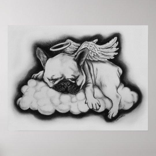 Nizza Französische Bulldoggen Engels Zeichnen Poster Zazzlech
