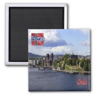 NO-, Norwegen - Oslo Quadratischer Magnet