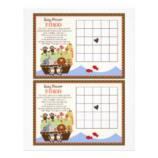 """Noahs Arche/Tierpaar-""""Babyparty-Bingo"""" Blatt Bedruckte Flyer"""