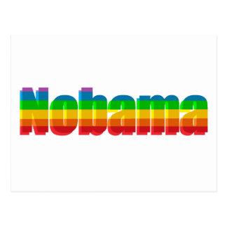Nobama Regenbogen-politische Geschenke Postkarten
