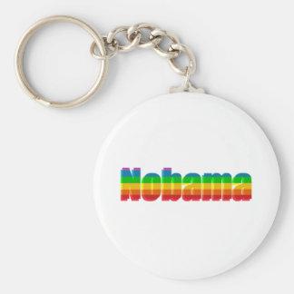 Nobama Regenbogen-politische Geschenke Standard Runder Schlüsselanhänger