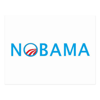 Nobama SpitzenSeliing politischer Gang Postkarte