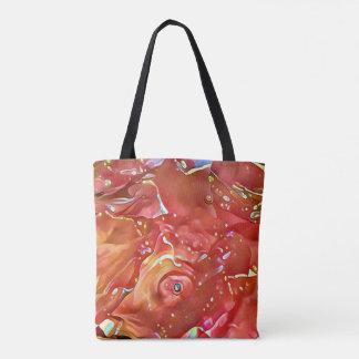 Noble Chic-Rose farbiges künstlerisches abstraktes Tasche