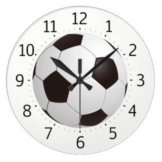 Noble coole Geschenke des Fußball-Ball-| Große Wanduhr