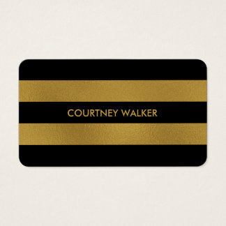 Noble Goldfolie und schwarze Visitenkarte