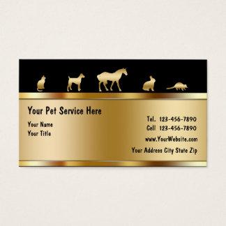 Noble Haustier-Visitenkarten Visitenkarte