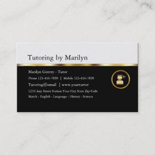Noble Lehrer-Privatunterricht-Visitenkarten Visitenkarte