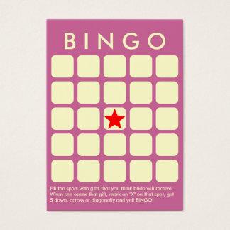 Noble lila 5 x 5 Brautparty-Bingo-Karte Visitenkarte