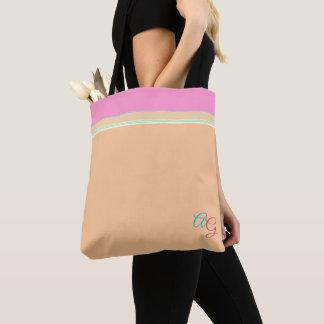 Noble Orange mit rosa Aqua > hübsche Tasche