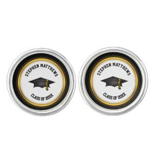 Noble personalisierte Abschluss-Kappe und Quaste Manschettenknöpfe