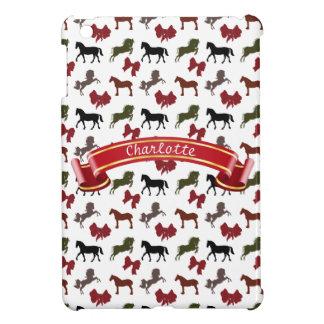 noble Pferde und Bogen-Muster-Gewohnheit iPad Mini Hülle
