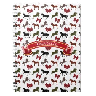 noble Pferde und Bogen-Muster-Gewohnheit Notizblock