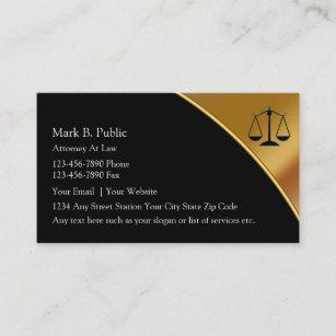 Noble Rechtsanwalts-Visitenkarten Visitenkarte