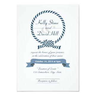 Noble Seeseil-Ring-Hochzeits-Einladungen 12,7 X 17,8 Cm Einladungskarte