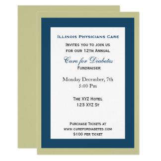 noble UnternehmensParty Einladung Karte