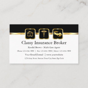 Noble Versicherungsmakler-Visitenkarten Visitenkarte