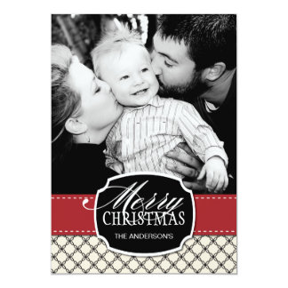 Noble WeihnachtsFoto-Karten Individuelle Ankündigskarten