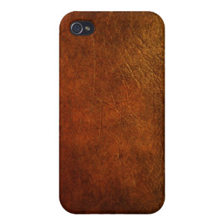 Nobler echtes Leder-Beschaffenheits-Designer iPhone 4/4S Case