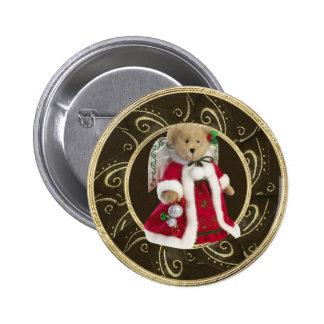 Nobler festlicher Engels-Teddybär-Knopf Runder Button 5,1 Cm