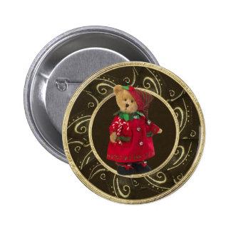 Nobler festlicher Girly Teddybär-Knopf Runder Button 5,1 Cm
