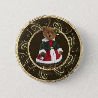 Nobler festlicher Girly Teddybär-Knopf Runder Button 5,7 Cm