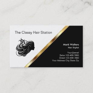 Nobler Friseursalon Visitenkarte