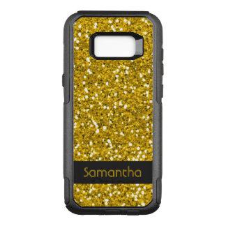 Nobler Imitat-GoldGlitter-Muster-Name OtterBox Commuter Samsung Galaxy S8+ Hülle